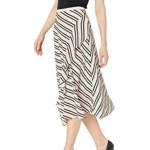 Calvin Klein Printed Ruffled Midi Skirt